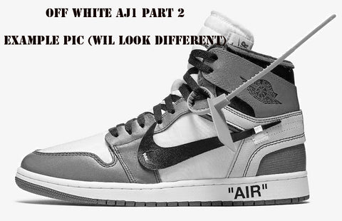 Nike X Off-White c/o Virgil Abloh Air Jordan Retro 1 High Part 2 White AQ0818-100 2018 PRE ORDER
