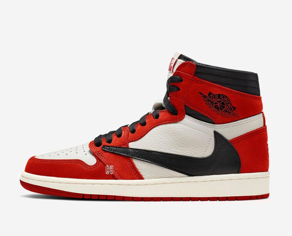 Nike Air Jordan Retro 1 High Travis Scott Cactus Red Black White 2020 - BONUS