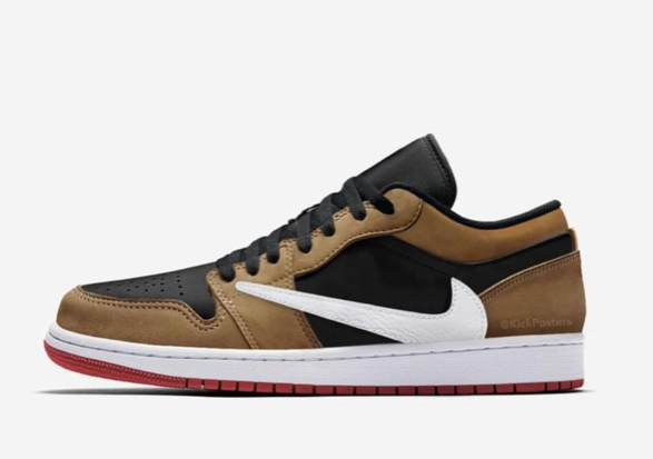 7c2e685a0566 Nike Air Jordan Retro 1 Low OG SP Travis Scott Black Dark Mocha Red 2019 -  XMAS