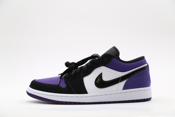 Nike Air Jordan Retro 1 Low White Court Purple 553558-125