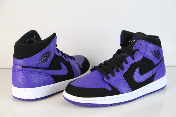 7a6891e3f80754 Nike Air Jordan Retro 1 Mid Black Dark Concord White 554724-051 ...