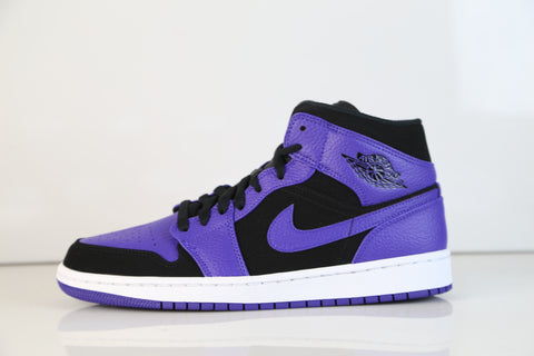 Nike Air Jordan Retro 1 Mid Black Dark Concord White 554724-051 c4136c7c7