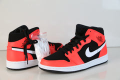 Nike Air Jordan Retro 1 Mid Black Infrared 23 White 554724-061
