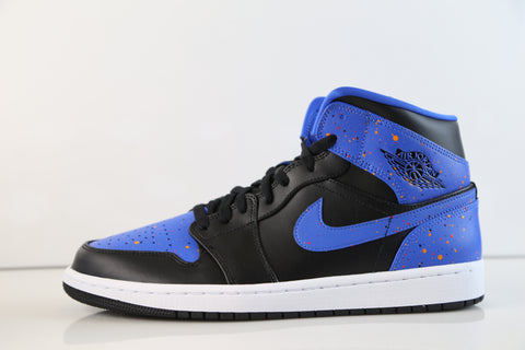 Nike Air Jordan Retro 1 Mid Black Signal Blue Team Orange 554724-048
