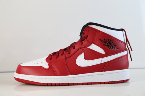 Nike Air Jordan Retro 1 Mid Gym Red Black White 554724-605