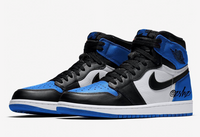 Nike Air Jordan Retro 1 High OG Black Game Royal 2.0 Blue Toe 555088-041 - BONUS