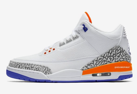 Nike Air Jordan Retro 3 Knicks Rivals White Royal Orange 136064-148 - PRE ORDER