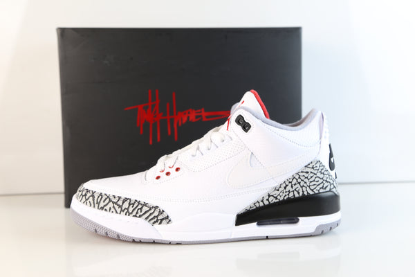 Nike Air Jordan Retro 3 NRG JTH Justin Tinker White Cement Superbowl AV6683-160 (NO Codes)