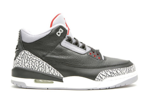 Nike Air Jordan Retro 3 OG Black Cement Nike Air 854262-001 Adult and GS Kids 3.5y-15 PRE ORDER
