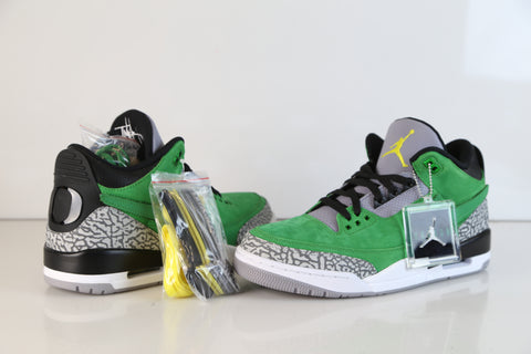 Nike Air Jordan Retro 3 Tinker UO Oregon Apple Green Black AJ3-867493 NEW size 11 (SOLD)
