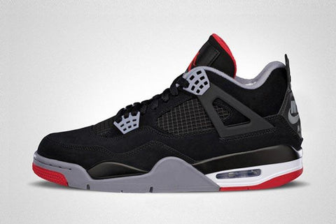 Nike Air Jordan Retro 4 Bred OG 30th Black Red Adult and GS PRE ORDER