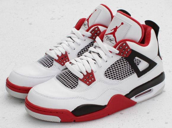 Nike Air Jordan Retro 4 OG White Fire Red 30th Anniv 2019 Adult GS PRE ORDER