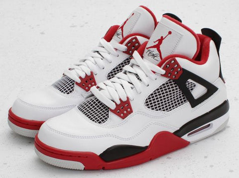 san francisco 9a3d7 f88a5 Nike Air Jordan Retro 4 OG White Fire Red 30th Anniv 2019 Adult GS PRE ORDER