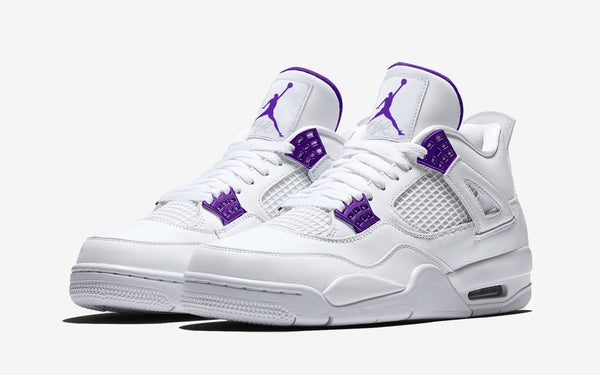 Nike Air Jordan Retro 4 White Court Purple Metallic Silver CT8527-115 - PRE ORDER