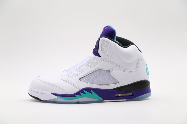 Nike Air Jordan Retro 5 NRG Fresh Prince Grape White Emerald AV3919-135