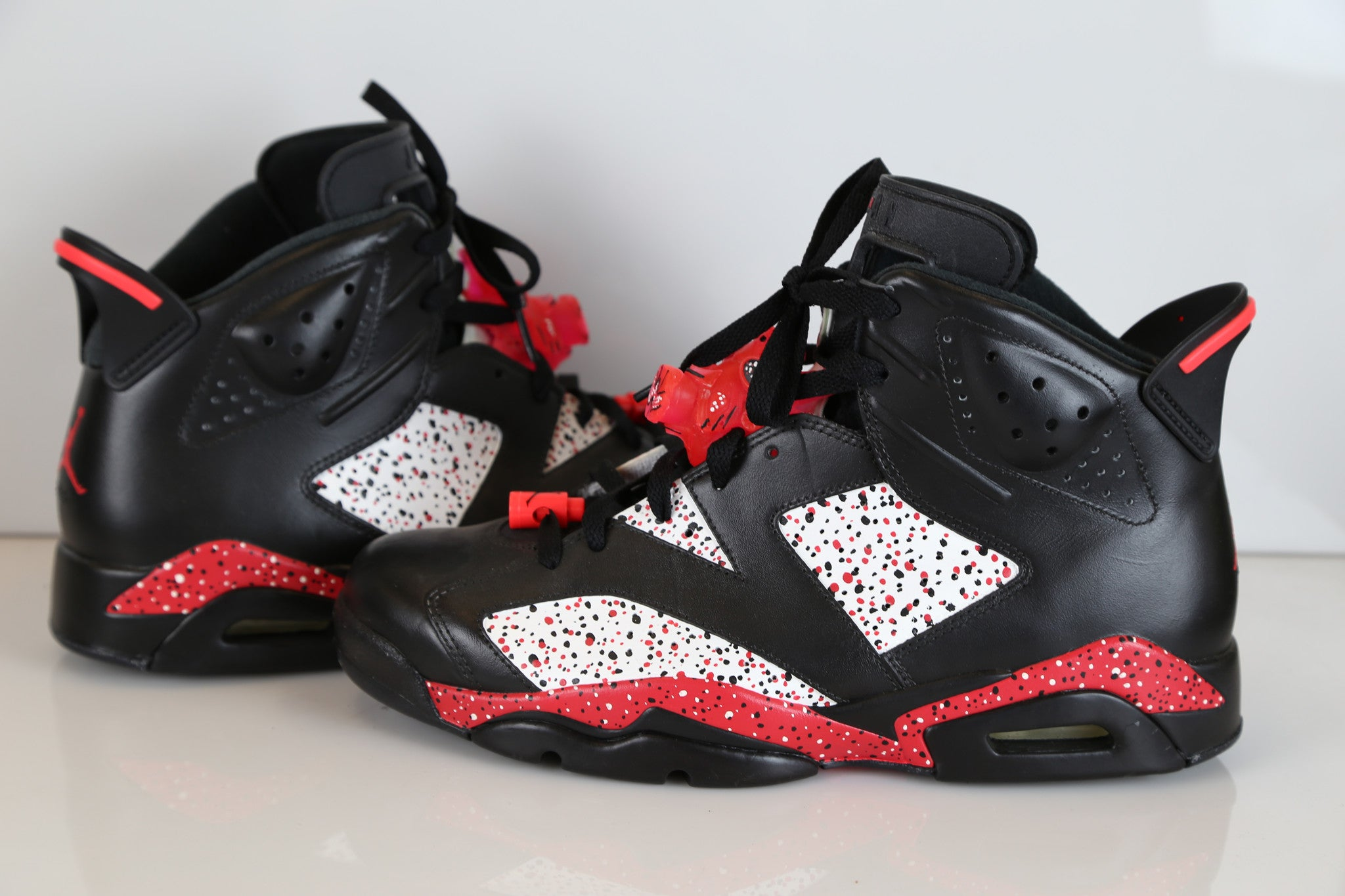 new product 16c86 f3ed6 Custom Nike Air Jordan Retro 6 Black Infra Pink 10 | Zadehkicks
