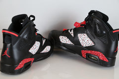 Custom Nike Air Jordan Retro 6 Black Infra Pink 10