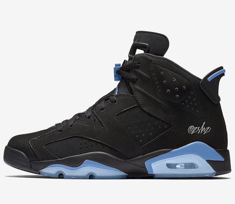 Nike Air Jordan Retro 6 Black University Blue Holiday 2017 Adult and GS PRE ORDER
