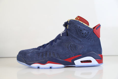 big sale 2c1e3 e2869 Nike Air Jordan Retro 6 DB Doernbecher Midnight Navy Varsity Metallic Gold  15th Anniv CI6293-