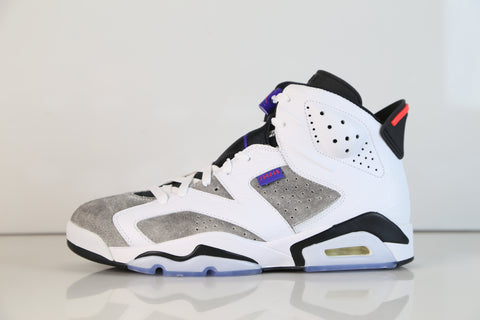 Nike Air Jordan Retro 6 LTR Flint White Dark Concord Black CI3125-100