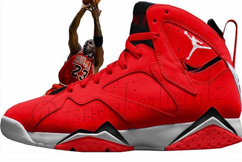 Nike Air Jordan Retro 7 Fade Away Bulls Red 2018 Adult and GS PRE ORDER
