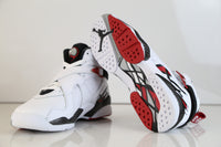 Nike Air Jordan Retro 8 Alternate White Red BG GS 305368-104