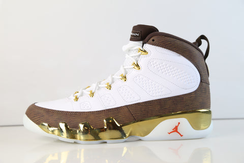 Nike Air Jordan Retro 9 MOP Melo White Baroque Brown 302370-122