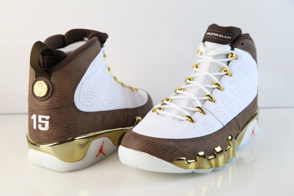 reputable site 6559c 4615b Nike Air Jordan Retro 9 MOP Melo White Baroque Brown 302370 ...