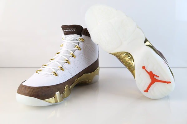 reputable site 492de 3a4de Nike Air Jordan Retro 9 MOP Melo White Baroque Brown 302370 ...