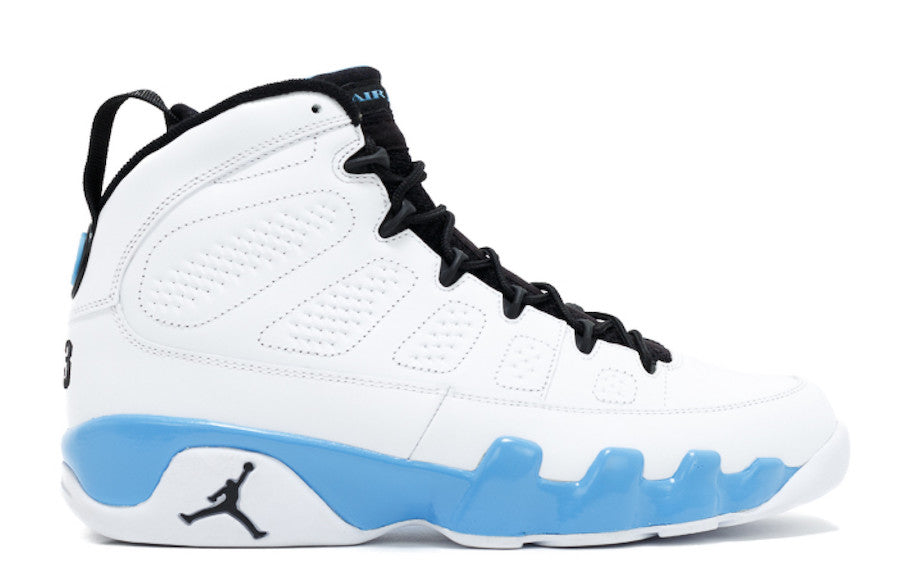 timeless design a20c2 3321d Nike Air Jordan Retro 9 UNC White Midnight Navy University Blue 2019 3    Zadehkicks