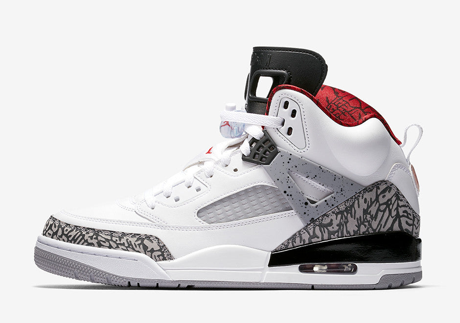 14799323c43e22 Nike Air Jordan Spizike White Varsity Red Cement Grey OG 315371-122 ...