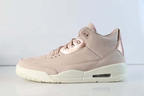 Nike Air Jordan Womens Retro 3 SE Particle Beige Metallic Red Bronze AH7859-205