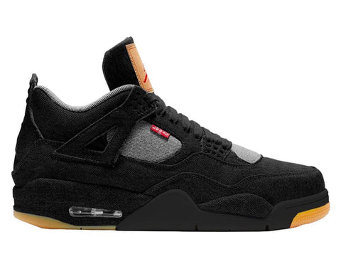 Nike Air Jordan X Levi's Retro 4 Black Denim AO2571-001 2018 Adult and GS PRE ORDER