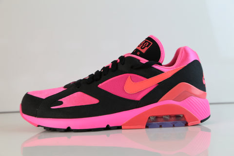 d7ba24f38ad85a Nike Air Max 180 CDG Comme Des Garcons Black Laser Pink Solar Red AO4641-601