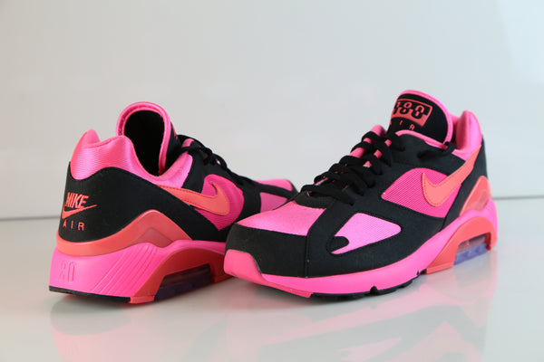 ... Nike Air Max 180 CDG Comme Des Garcons Black Laser Pink Solar Red  AO4641-601 ...