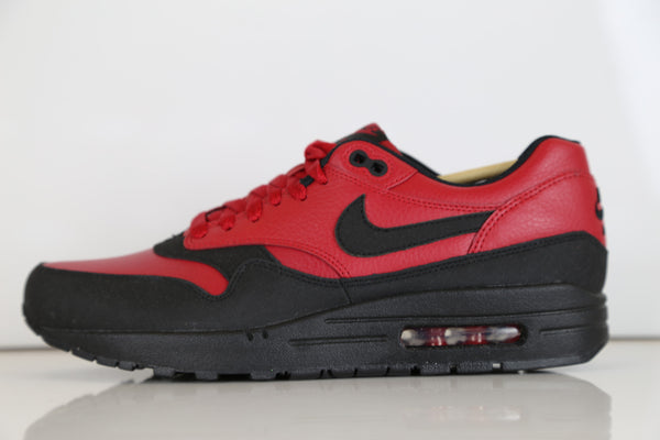 Nike Air Max 1 LTR Leather Premium Gym Red Black 705282-600