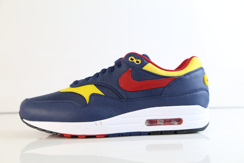 Nike Air Max 1 Premium Snow Beach Navy Gym Red Vivid Sulfur 875844-403