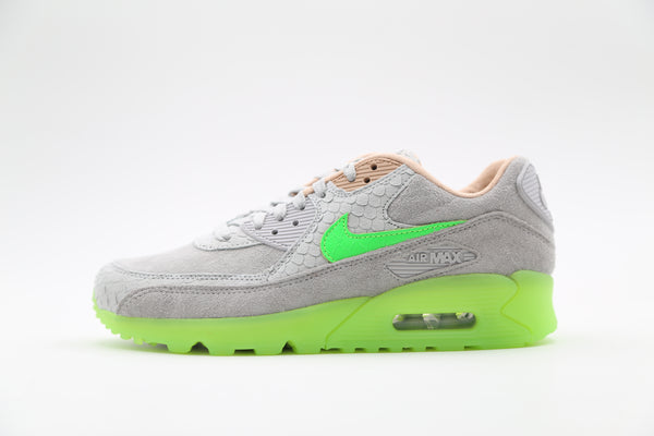 Nike Air Max 90 Premium New Species Pure Platinum Electric Green CQ0786-001