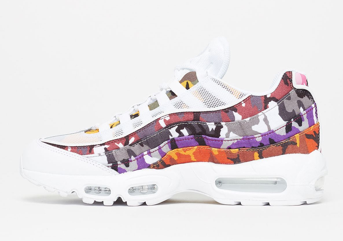 Nike Air Max 95 ERDL Party White Multicolor Ar4473 100 Men's Size 9.5