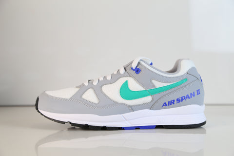 Nike Air Span II Wolf Grey Clear Emerald AH8047-012