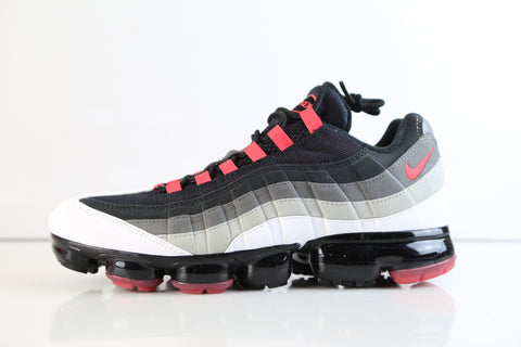Nike Air VaporMax 95 White Hot Red Dark Pewter AJ7292-101