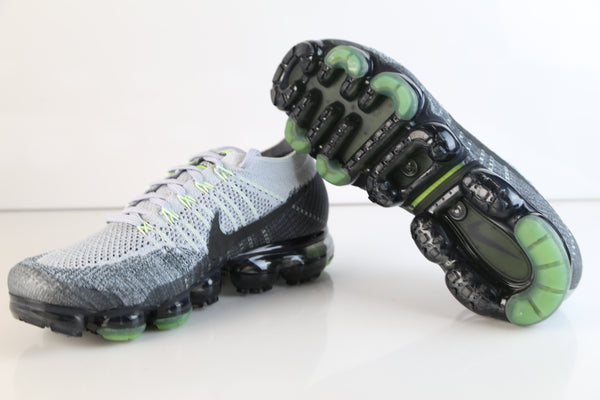 4511db4f0d9d ... Nike Air VaporMax Flyknit E Heritage Pack Neon Pure Platinum Anthracite  922915-002 ...