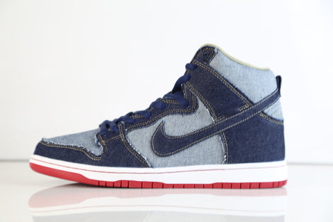 Nike Dunk High Premium Pro SB TRD QS Midnight Navy Reese Forbes Denim 881758-441 (NO Codes)