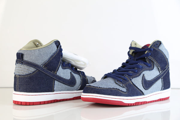 best service 86155 f053b discount code for nike dunk high premium pro sb trd qs midnight navy reese  forbes denim