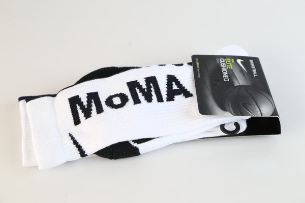 Nike Elite X MoMA Off-White Socks White Black SX7943-100