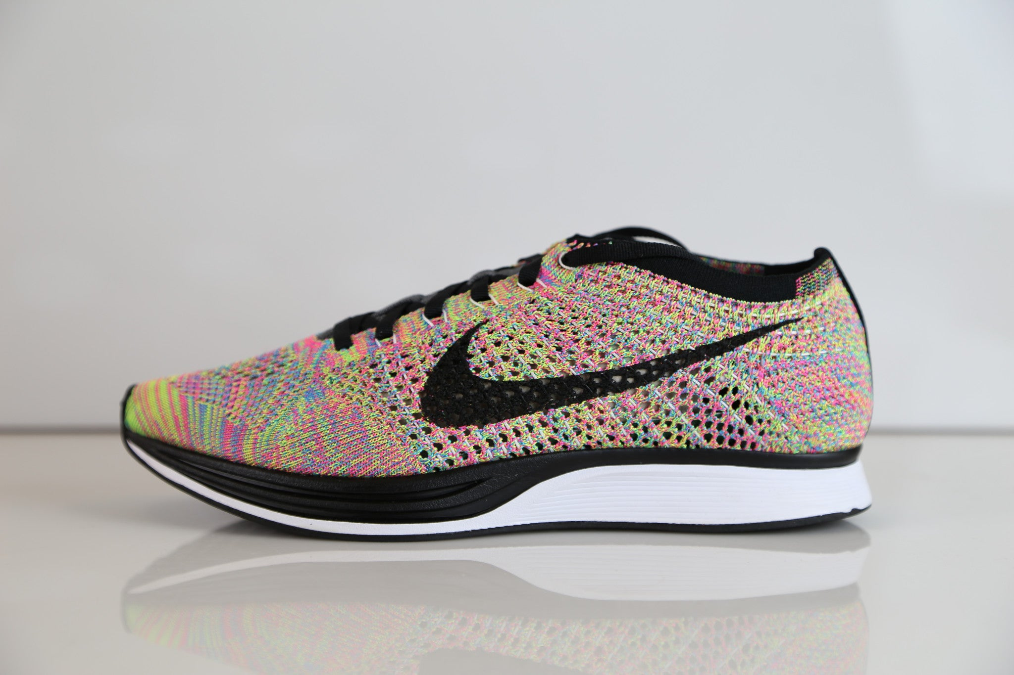buy popular c35a4 1e03d Nike Flyknit Racer Multicolor 3.0 Rainbow Grey 526628-004   Zadehkicks