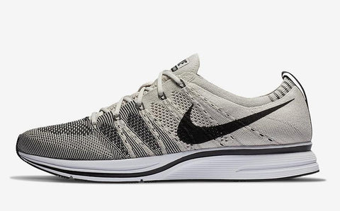 Nike Flyknit Trainer Pale Grey Black White AH8396-001 (NO Codes)
