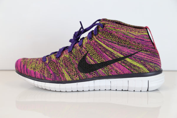 Nike Free Flyknit Chukka Grand Purple Fireberry 639700-501