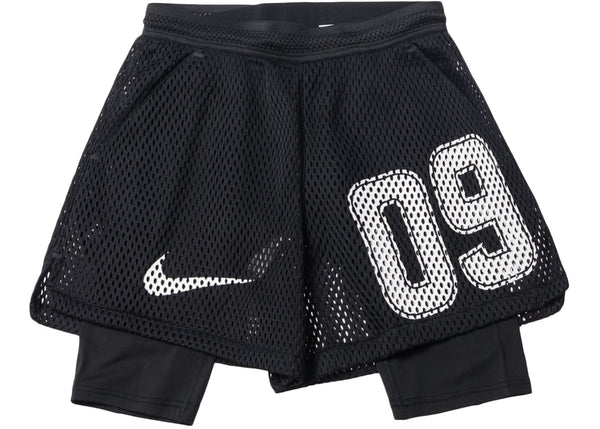 Nike Lab OFF-WHITE Mercurial NRG Football 2 Piece Home Mesh Shorts BLACK AH0376-010