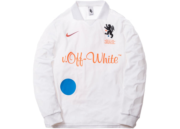 Nike Lab OFF-WHITE Mercurial NRG Football White Home Jersey AA3300-100
